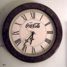 Relojes: RELOJ PROPAGANDA COCA-COLA DE PARED OJO DE BUEY. Lote 143319182