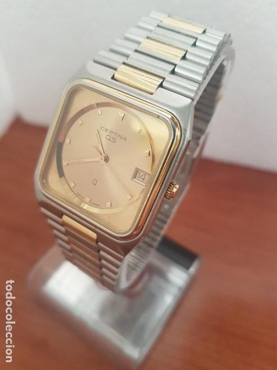 Relojes: Reloj caballero (Vintage) CERTINA DS de cuarzo bicolor acero y oro todo original correa original. - Foto 4 - 143746070