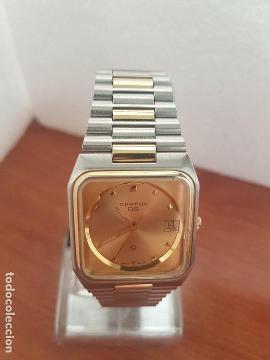 Relojes: Reloj caballero (Vintage) CERTINA DS de cuarzo bicolor acero y oro todo original correa original. - Foto 5 - 143746070