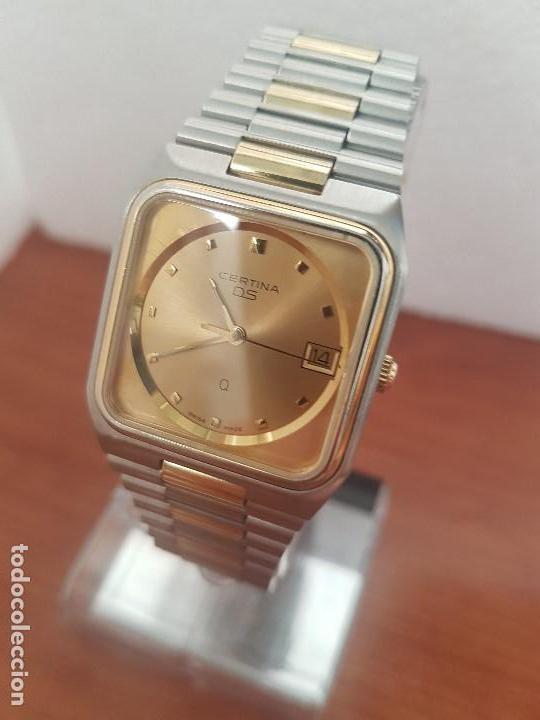 Relojes: Reloj caballero (Vintage) CERTINA DS de cuarzo bicolor acero y oro todo original correa original. - Foto 9 - 143746070