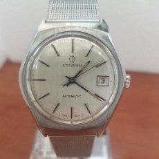 Relojes: RELOJ CABALLERO (VINTAGE) CANDINO AUTOMÁTICO DE ACERO Y CALENDARIO A LAS TRES CORREA ACERO MILANESA. Lote 143749282