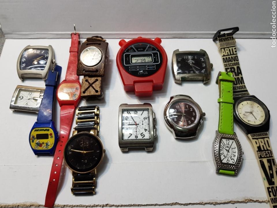 RELOJES LOTE 12 RELOJES DE VARIOS TIPOS (Relojes - Relojes Actuales - Otros)