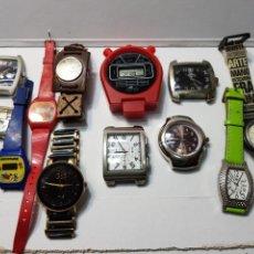 Relojes: RELOJES LOTE 12 RELOJES DE VARIOS TIPOS. Lote 143775742