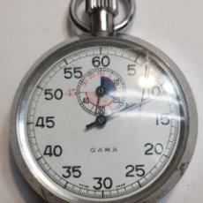 Relojes: ANTIGUO CRONÓMETRO DE CUERDA GAMA FUNCIONANDO. Lote 143776049