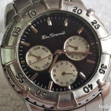 Relojes: RELOJ BEN SHERMAN CABALLERO METAL - ESFERA 2.8.CM DIAMETRO - FUNCIONANDO. Lote 143885754