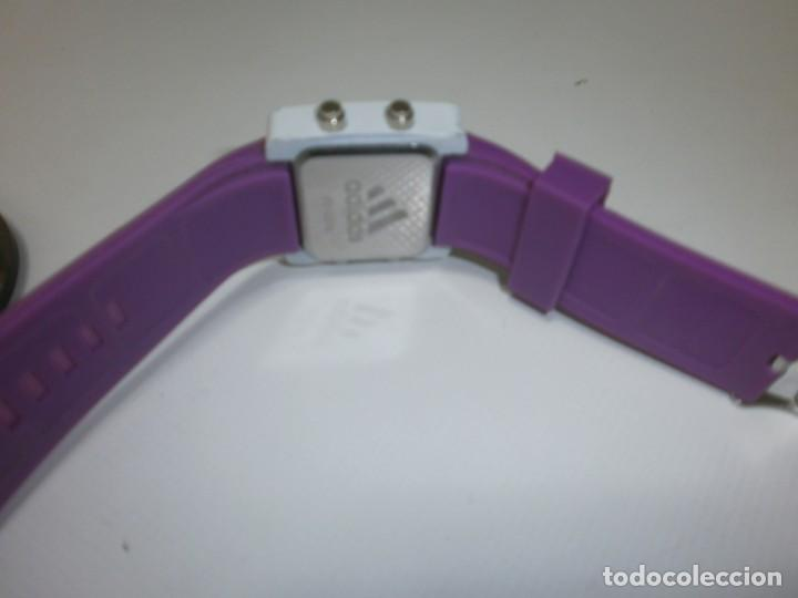 e4b6fc8c1c98 Relojes  Reloj Adidas led Watch blanco correa morada ancha cuadrado 3
