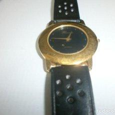 Relojes: RELOJ THERMIDOR CUARZO REDONDO DORADO ESFERA NEGRA DIÁMETRO 3,3 CM. . Lote 143922298