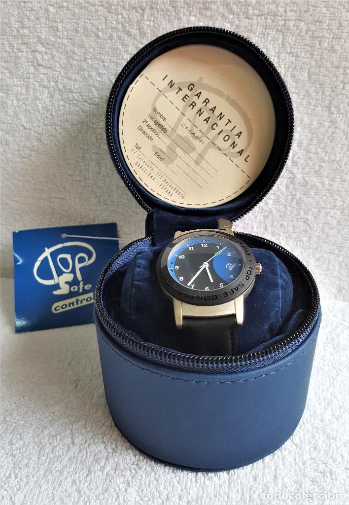 Relojes: RELOJ TOP SAFE CONTROL EN ESTCHE SIN USO - ESFERA 2.8.CM DIAMETRO BANDA DE MATERIAL - Foto 4 - 144144486