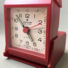 Relojes: EXCELENTE RELOJ DE CUARZO, DESPERTADOR DE LA MARCA ALEMANA JUNGHANS TOURIST. Lote 144251346
