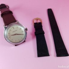 Relojes: RELOJ-MOVADO-CUERDA-37 MM.TOTAL-BUEN ESTADO GENERAL-2 CORREAS-1 PIEL DE LAGARTO NEGRA-VER FOTOS. Lote 144909606