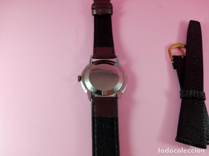 Relojes: RELOJ-MOVADO-CUERDA-37 MM.TOTAL-BUEN ESTADO GENERAL-2 CORREAS-1 PIEL DE LAGARTO NEGRA-VER FOTOS - Foto 6 - 144909606