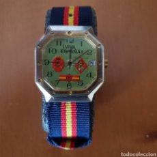 Relojes: EXCLUSIVO RELOJ PATRIÓTICO. LEYENDA-VIVA ESPAÑA- ESCUDOS DE LA GUARDIA CIVIL. AÑOS 50/60.. Lote 139811562