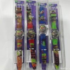 Relojes: LOTE DE 4 RELOJES TORTUGAS NINJA. NUEVOS A ESTRENAR. Lote 195150598