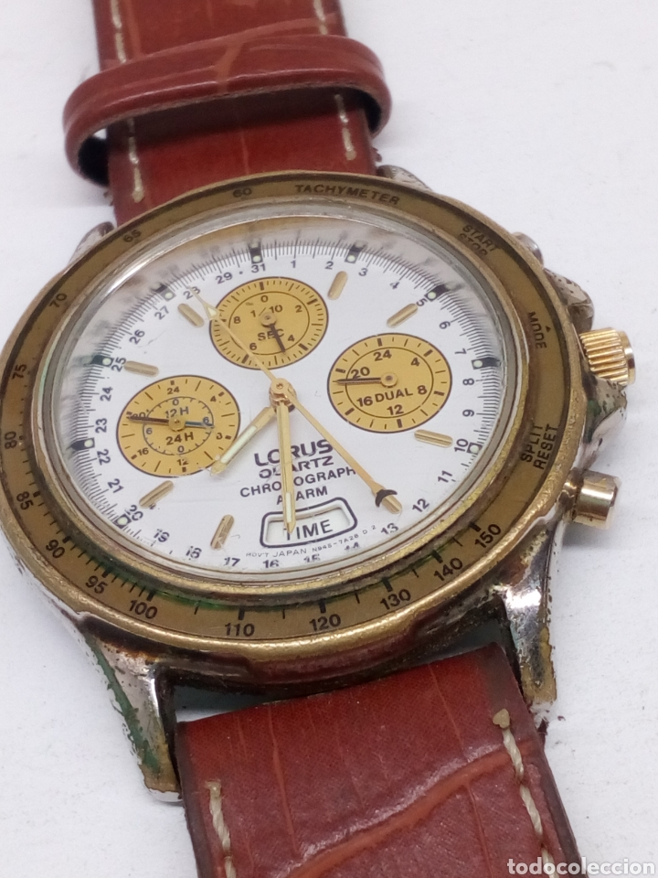 RELOJ LORUS CHRONOGRAPH QUARTZ MODELO VINTAGE PARA COLECCIONISTAS (Clocks and Watches - Current Brands - Other Brands)