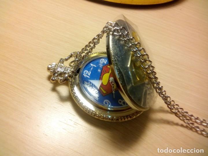Relojes: RELOJ BOLSILLO TEMATICO SUPERMAN - Foto 3 - 146506966