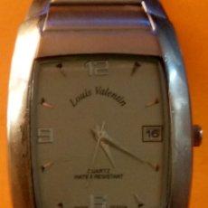 Relojes: RELOJ QUARTZ. DE LOUIS VALENTIN. FUNCIONANDO. BATERIA NUEVA 5 AÑOS. ENERO 2.019 DESCRIP. Y FOTOS.. Lote 147198286