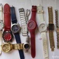 Relojes: LOTE DE 11 RELOJES CUARZO SIN COMPROBAR HOMBRE MUJER Q1. Lote 147884794