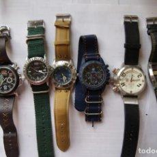 Relojes: LOTE DE 6 RELOJES GRANDES CUARZO SIN COMPROBAR HOMBRE 42/52MM Q2. Lote 147885674