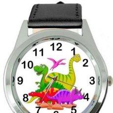 Relojes: RELOJ DINOSAURIOS (COLOR NEGRO). Lote 148760258