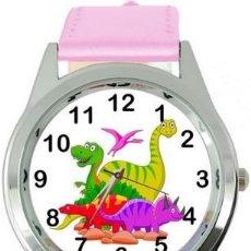 Relojes: RELOJ DINOSAURIOS (COLOR ROSA). Lote 148764190