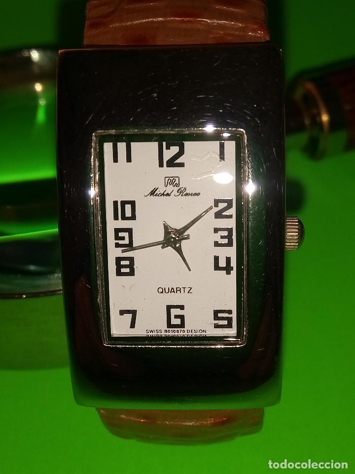 Relojes: RELOJ DE QUARTZ MICHEL RONEE. BATERIA NUEVA. PERFECTO. DESCRIPCION Y FOTOS. - Foto 2 - 149107498