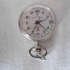 Relojes: PEQUEÑO RELOJ DE BOLSILLO QUARTZ SUIZO JACQUES DU MANOIR FUNCIONANDO. Lote 149327446