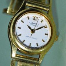 Relojes: ELEGANTE RELOJ DE PULSERA ORIENT-CON ARMIS EN ORO DE 18K-CON GARANTIA-FUNCIONANDO-. Lote 149641734