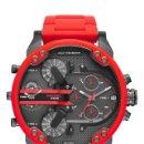 Relojes: RELOJ HOMBRE DIESEL DZ7370 MR DADDY 2.0 ACERO INOXIDABLE CRONOGRAFO ROJO. NUEVO. Lote 160761980