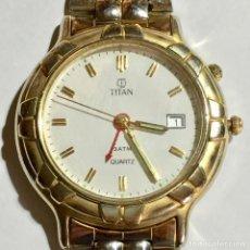 Relojes: RELOJ DE HOMBRE MARCA TITAN , QUARTZ , CALENDARIO , ALARMA . CAL. MIYOTA 6L79. Lote 150445618