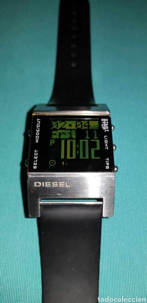 3d5de333115c Reloj Diesel Green Cara Cuadrado De Acero Inoxidable Sólido DZ-7044 WR 5bar