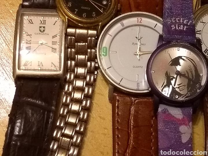 Relojes: *LOTE, 8 ESFERAS, CORREA ANCHO 16MM, LARGO 17CM. 6 RELOJES Y UNO QUE LE FALTA LA ESFERA** - Foto 4 - 150971388