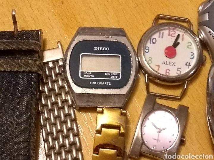 Relojes: *LOTE, 8 ESFERAS, CORREA ANCHO 16MM, LARGO 17CM. 6 RELOJES Y UNO QUE LE FALTA LA ESFERA** - Foto 9 - 150971388