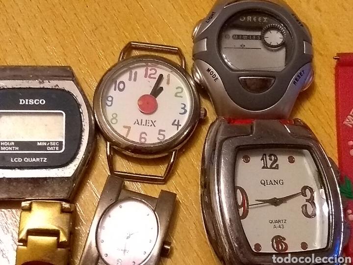 Relojes: *LOTE, 8 ESFERAS, CORREA ANCHO 16MM, LARGO 17CM. 6 RELOJES Y UNO QUE LE FALTA LA ESFERA** - Foto 10 - 150971388