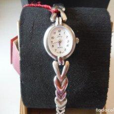 Relojes: RELOJ PULSERA PLATA LEY JUSTINA SEÑORA. Lote 151143158