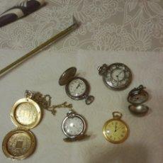 Relojes: RELOJES DE BOLSILLO DE PILA. Lote 151634140