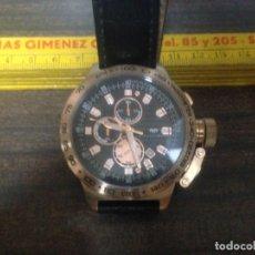 Relojes: ANTIGUO RELOJ PULSERA CABALLERO RHODENWALD SHONE AVIATOR EDICION LIMITADA CHAPADO EN ORO. Lote 151863578