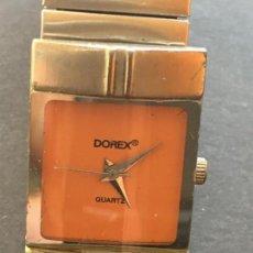 Relojes: PRECIOSO RELOJ DE CUARZO DE LA MARCA DOREX, CAJA Y CADENA ELASTICA DE ACERO. Lote 151925034