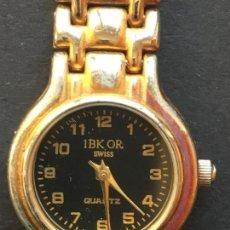 Relojes: MUY RARO. RELOJ DE CUARZO DE MUJER, LLEVA LA MARCA 1BK OR, 18K DOR, EN LA PARTE DE ATRAS. Lote 151926558