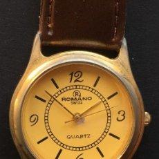 Relojes: RELOJ DE CUARZO DE LA MARCA ROMANO SWISS, CON CORREA DE CUERO MARRON. Lote 151927046