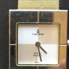 Relojes: RELOJ DE CUARZO DE LA MARCA CALYPSO, CON CORREA DE GOMA FLEXIBLE TRANSPARENTE. Lote 151928090