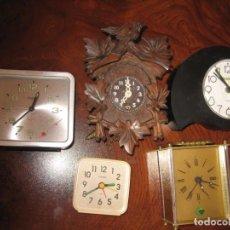 Relojes: CINCO RELOJES DIFERENTES. Lote 152138522