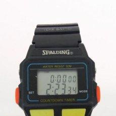 Relojes: SPALDING RELOJ DIGITAL ALARMA Y CRONOMETRO. Lote 152568482