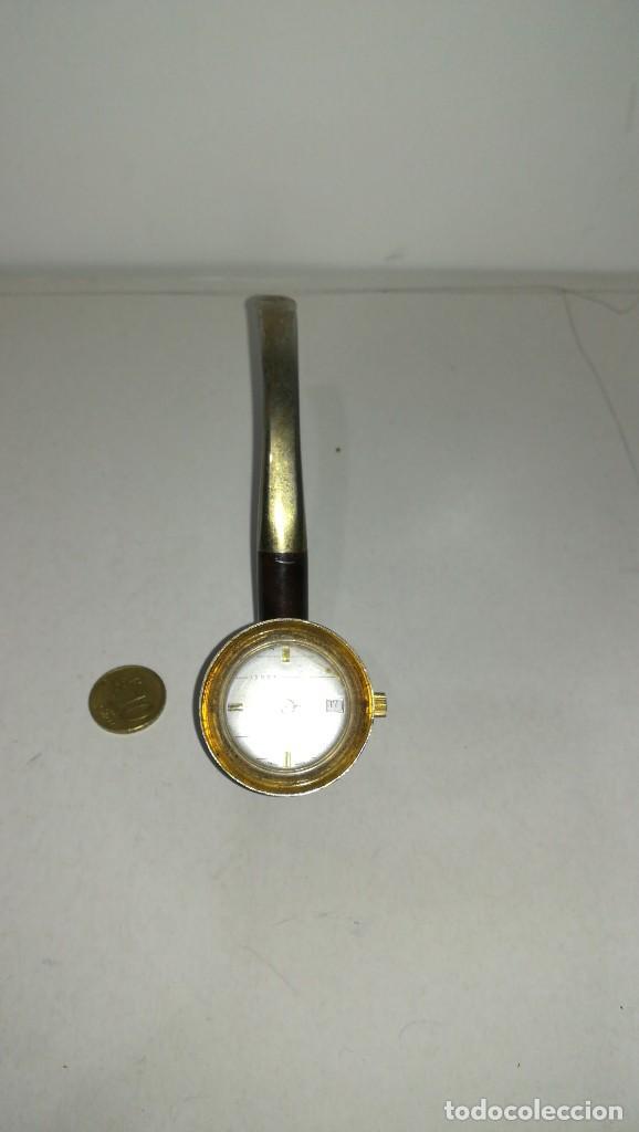 RELOJ EN FORMA DE PIPA (Relojes - Relojes Actuales - Otros)