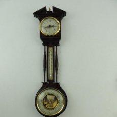 Relojes: PRECIOSO RELOJ, BARÓMETRO Y TERMÓMETRO MARCA DIN DECORACION PARED. Lote 153654322