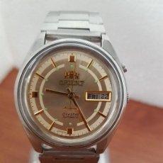 Relojes: RELOJ CABALLERO (VINTAGE) ORIENT AUTOMÁTICO DE ACERO CON DOBLE CALENDARIO CON CORREA DE ACERO ORIENT. Lote 154506622