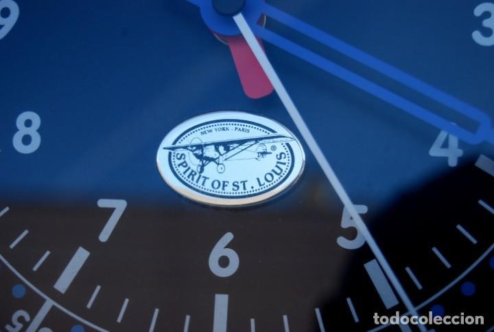 Relojes: RELOJ CONMEMORATIVO DE LA COLECCIÓN S.O.S.L. AIREFIELD WALL CLOCK A SPIRIT DE ST LOUIS. FUNCIONANDO - Foto 6 - 218569361