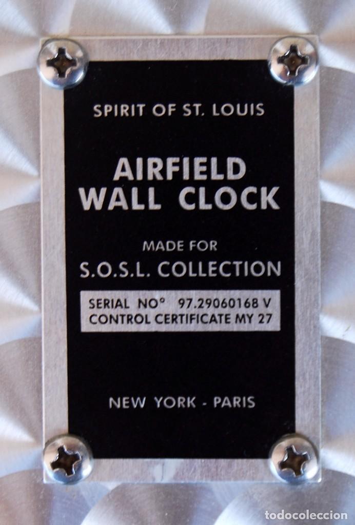 Relojes: RELOJ CONMEMORATIVO DE LA COLECCIÓN S.O.S.L. AIREFIELD WALL CLOCK A SPIRIT DE ST LOUIS. FUNCIONANDO - Foto 7 - 218569361