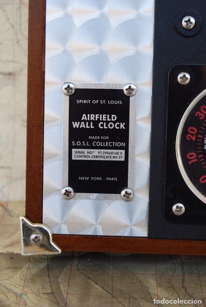 Relojes: RELOJ CONMEMORATIVO DE LA COLECCIÓN S.O.S.L. AIREFIELD WALL CLOCK A SPIRIT DE ST LOUIS. FUNCIONANDO - Foto 9 - 218569361