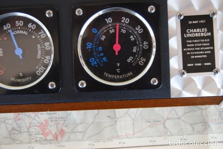 Relojes: RELOJ CONMEMORATIVO DE LA COLECCIÓN S.O.S.L. AIREFIELD WALL CLOCK A SPIRIT DE ST LOUIS. FUNCIONANDO - Foto 14 - 218569361