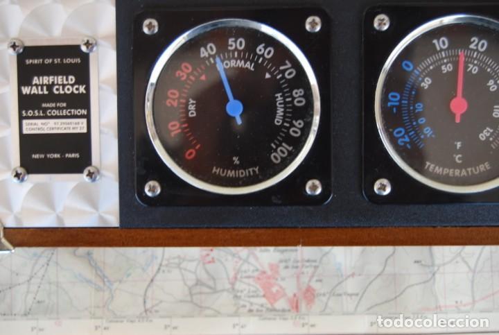 Relojes: RELOJ CONMEMORATIVO DE LA COLECCIÓN S.O.S.L. AIREFIELD WALL CLOCK A SPIRIT DE ST LOUIS. FUNCIONANDO - Foto 15 - 218569361